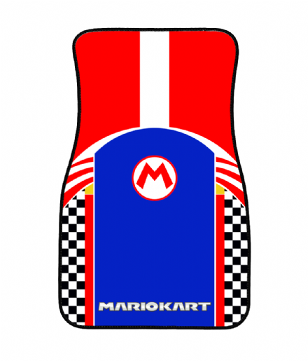 Mario Kart Design Gamer Inspired Front Floor Car Mat Driver or Passenger